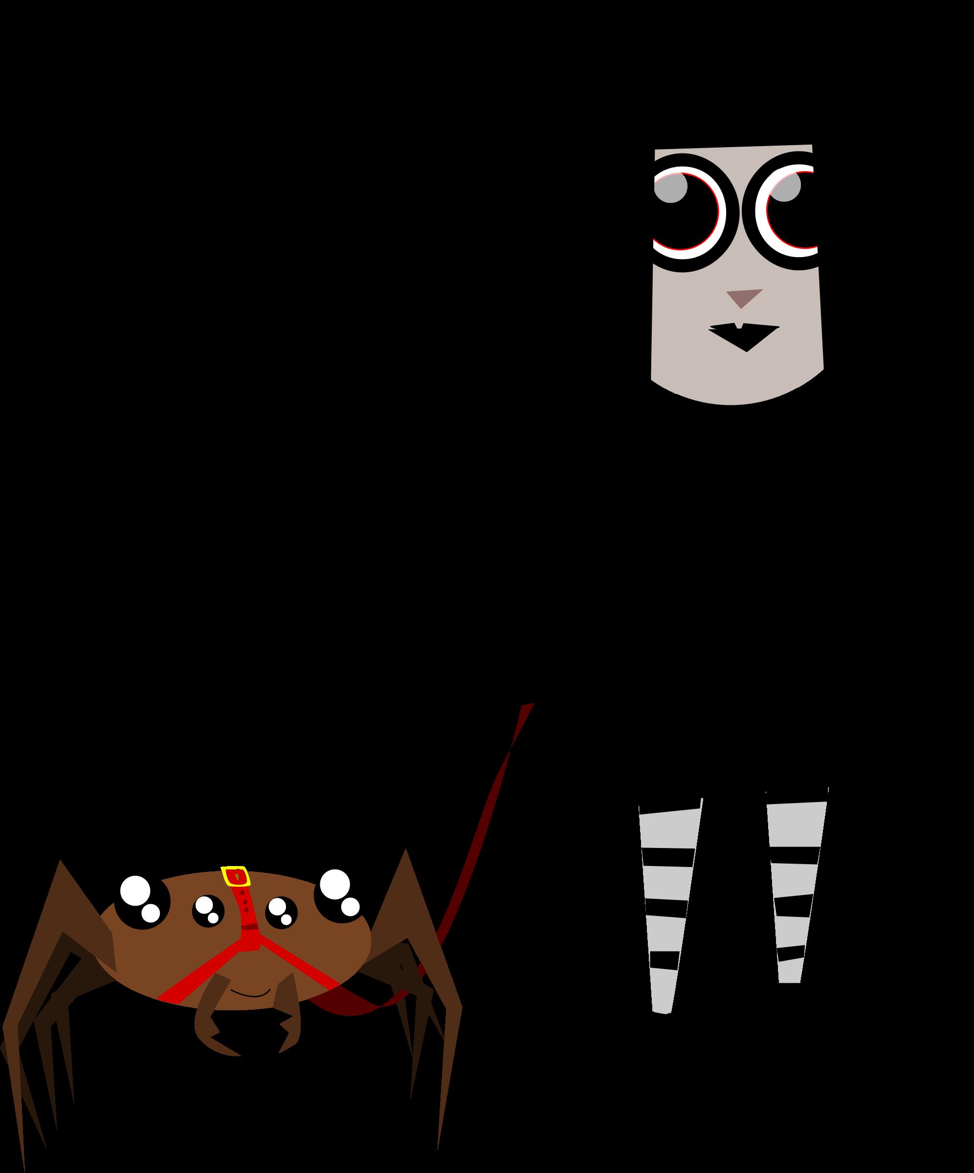 Pet clipart halloween. Spider girl big image