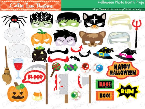 Props printable party diy. Clipart halloween photo booth