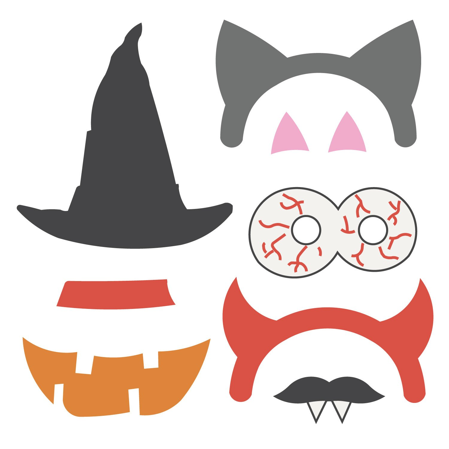Halloween clipart photo booth. Props