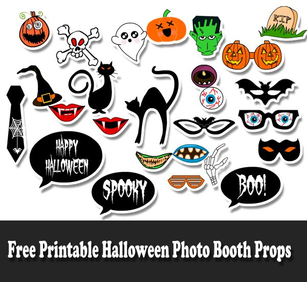Free printable props . Halloween clipart photo booth
