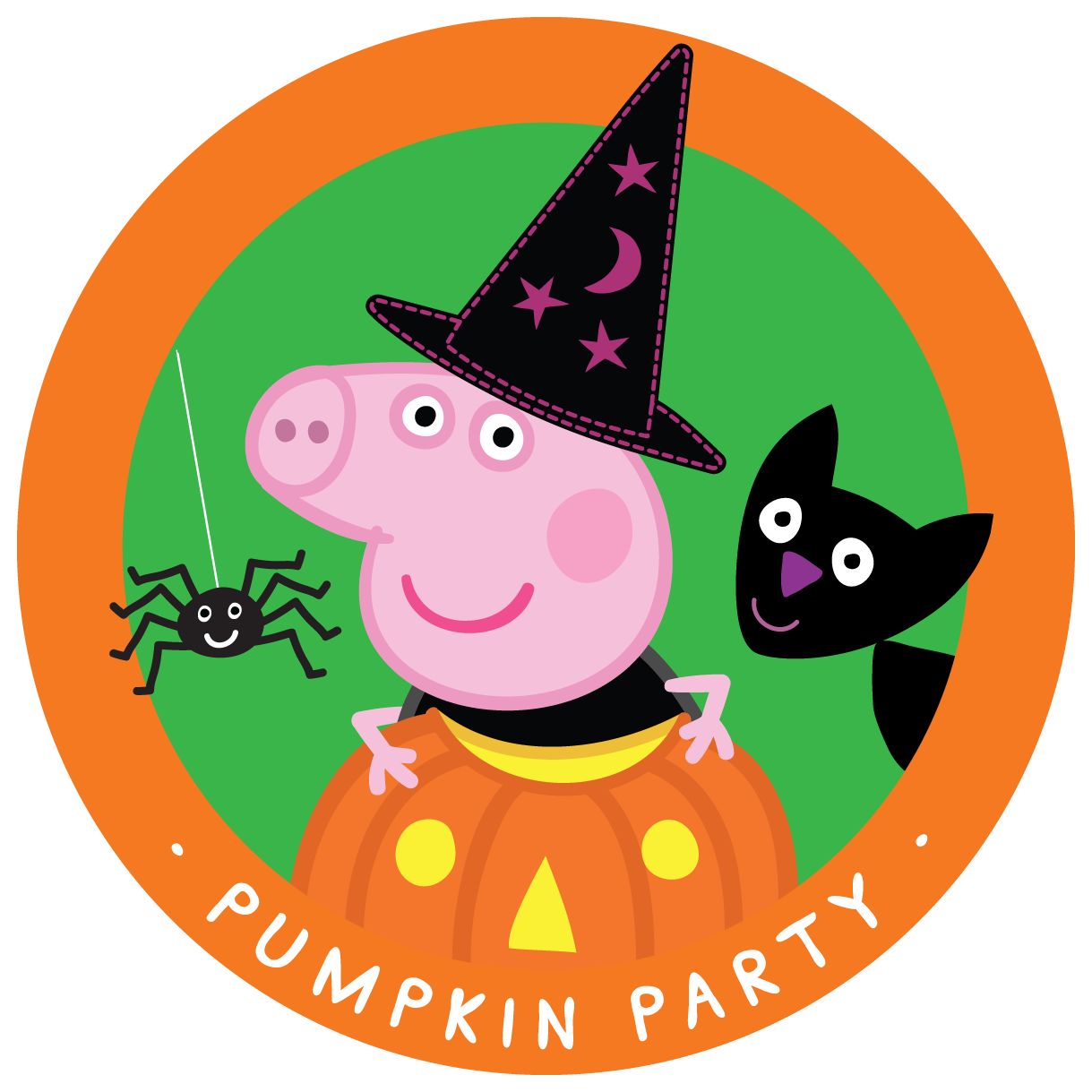 Happy from peppa . Clipart halloween pig