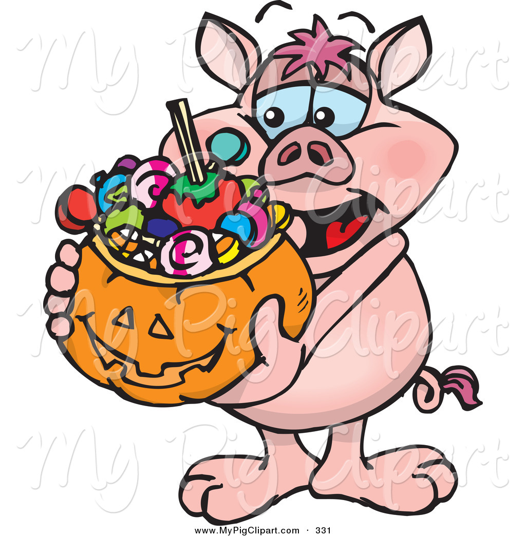 Clipart pig halloween. Swine of a happy