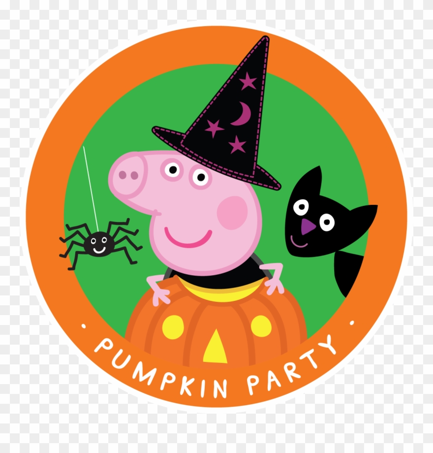 Clipart pig halloween. Peppa happy