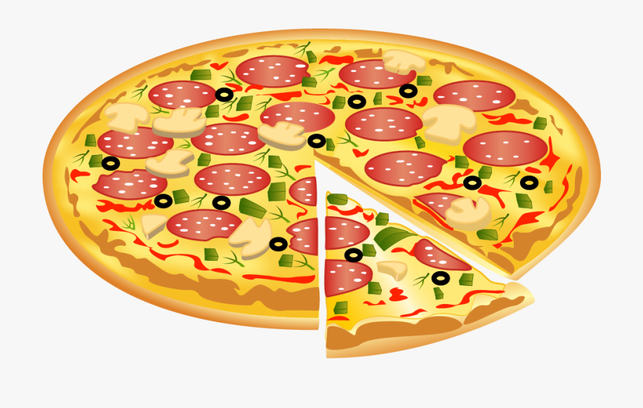 Pizza clipart halloween. Pencil and in color