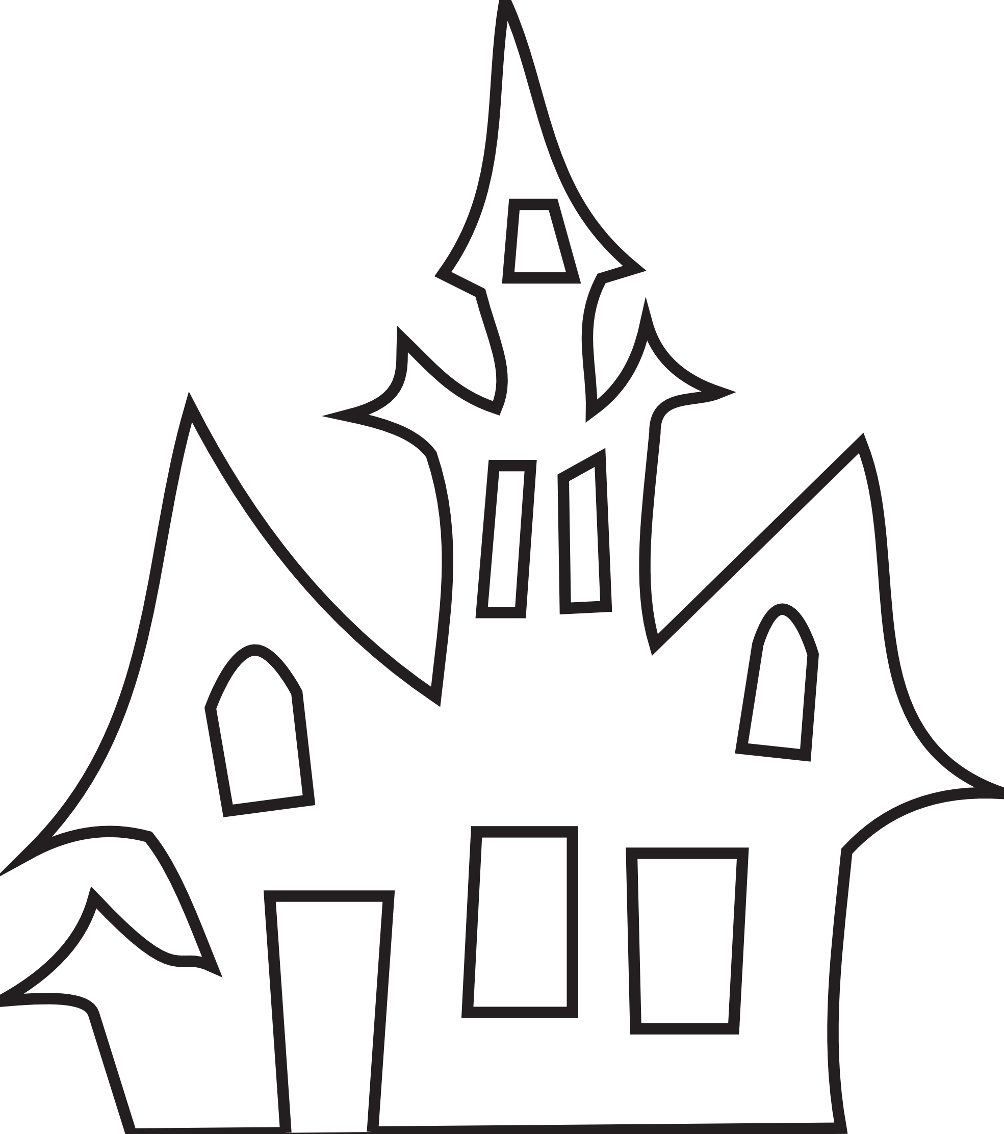 Clipart halloween potluck. House black and white
