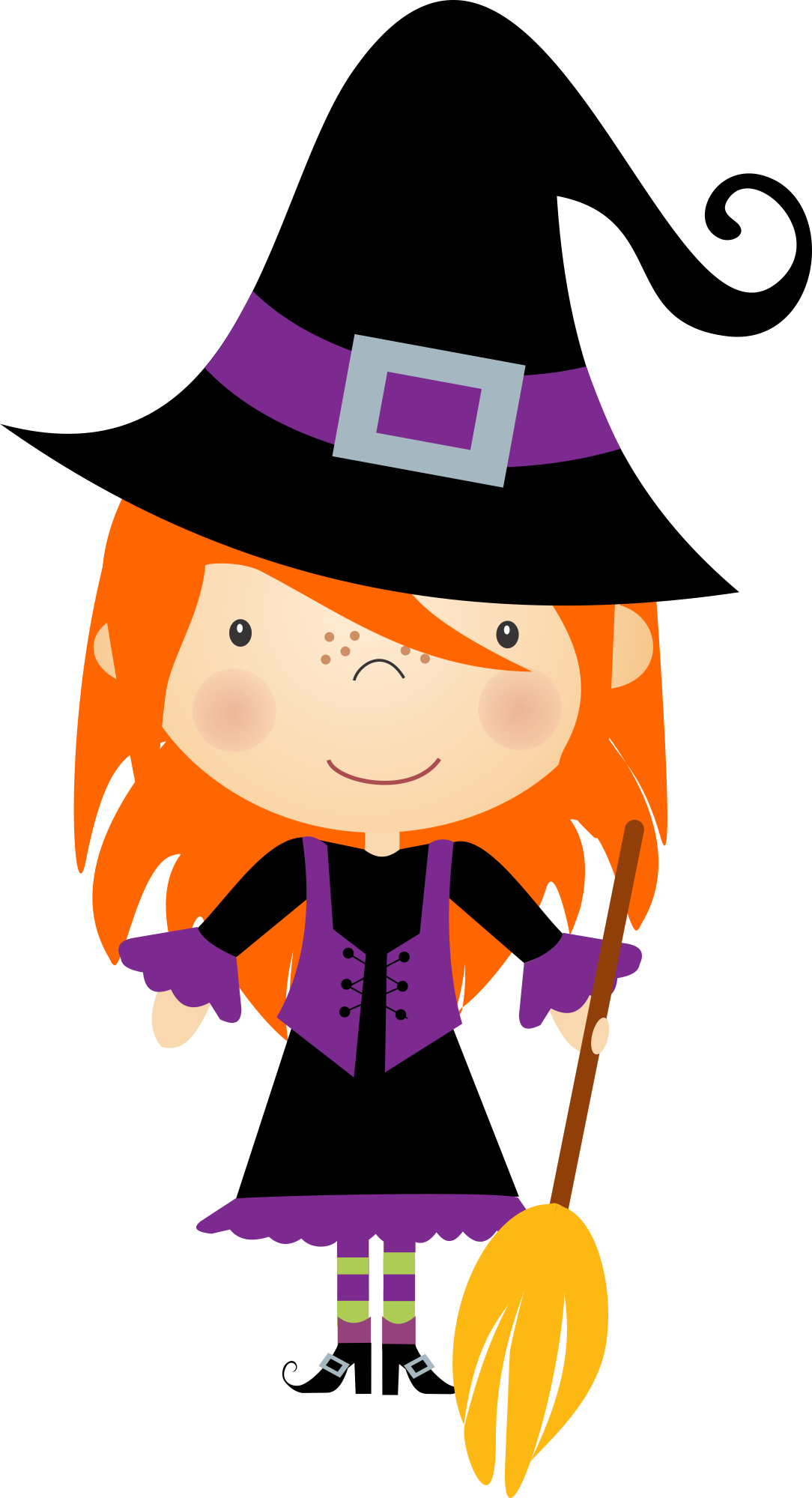 Witch clipart reading. Halloween nini scrap kids