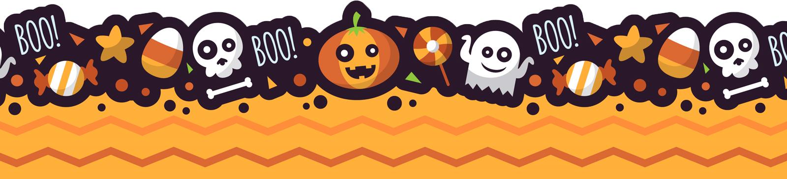 Clipart halloween preschool. Border bottom rev visually