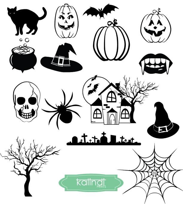 Svg dxf esp jpg. Clipart halloween printable