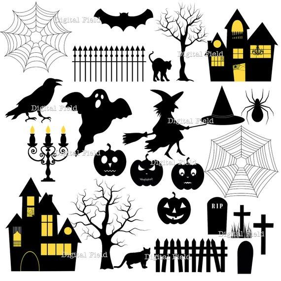 Pin by linda markle. Clipart halloween printable