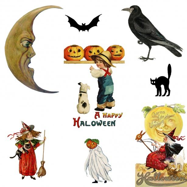 Clipart halloween public domain. Vintage free stock photo