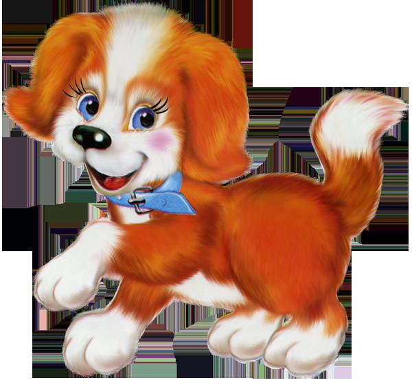 Orange cartoon gallery yopriceville. Clipart puppy cute