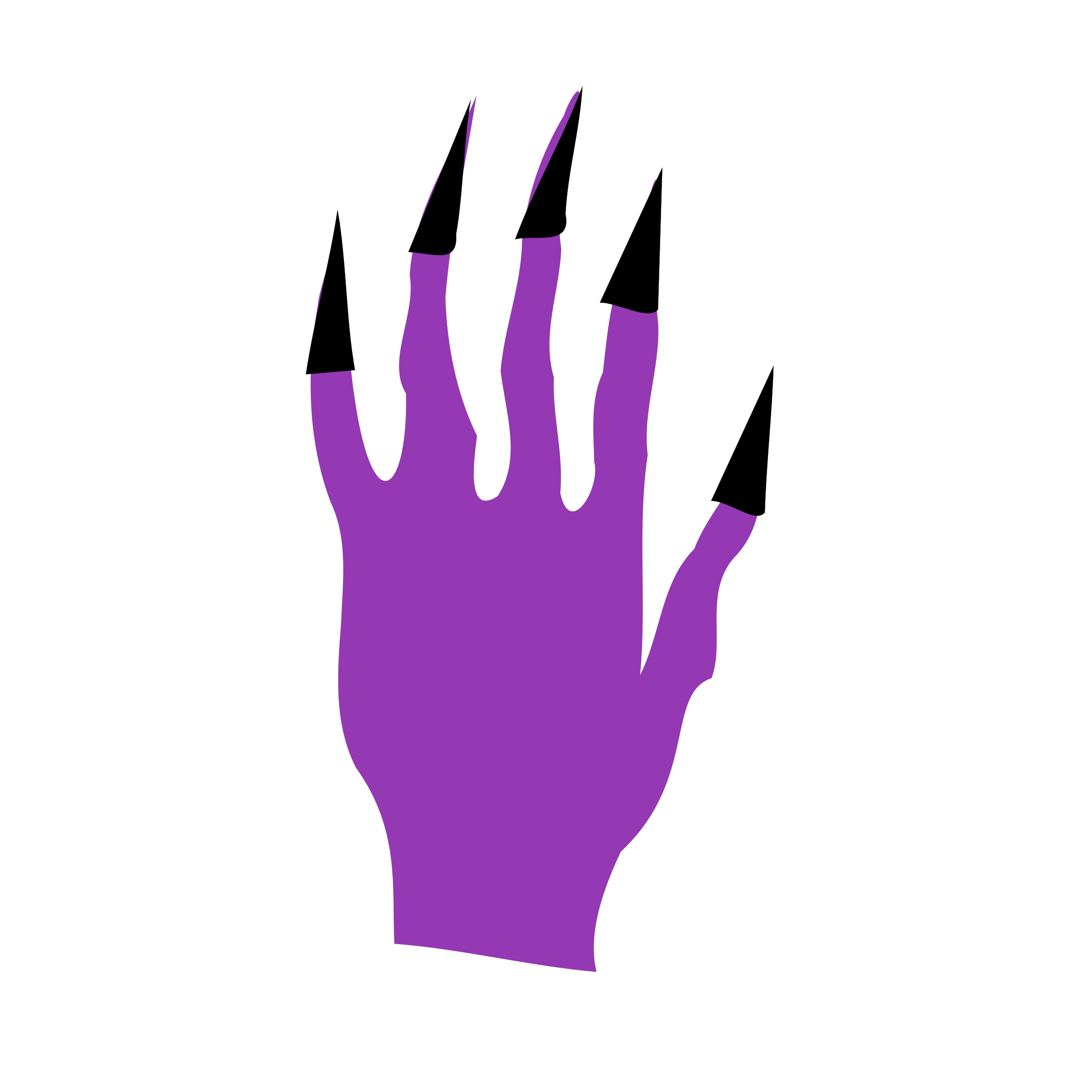 Nails big image png. Clipart halloween purple