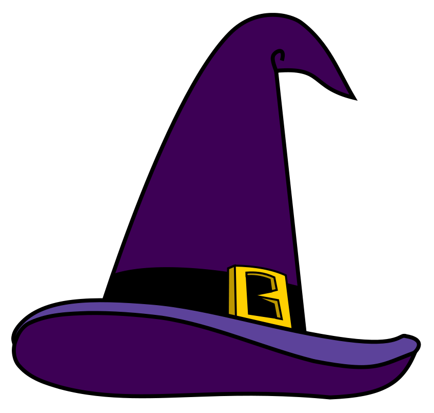 Clipart halloween purple. Witch hat png picture