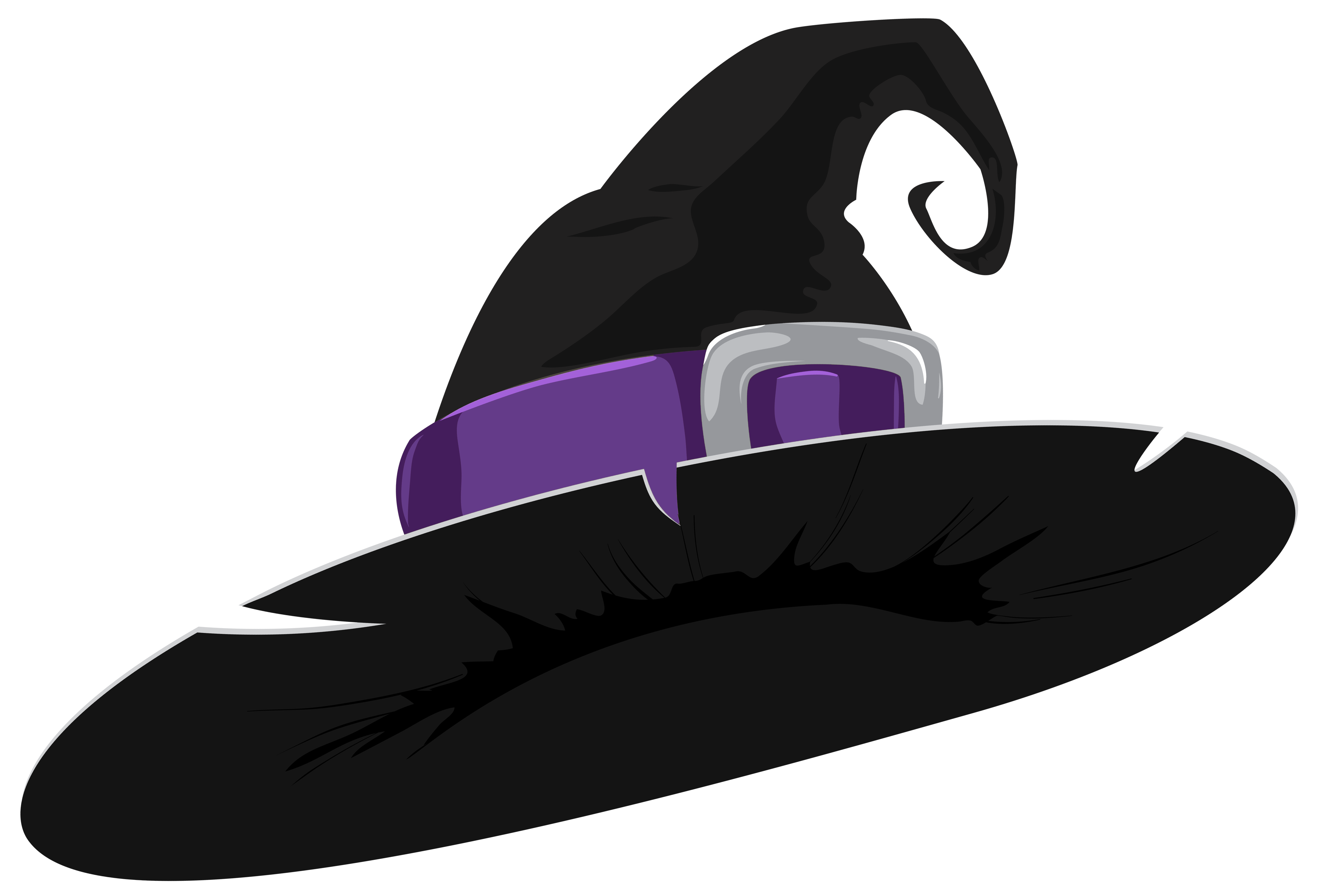 Witch hat black and. Clipart halloween purple