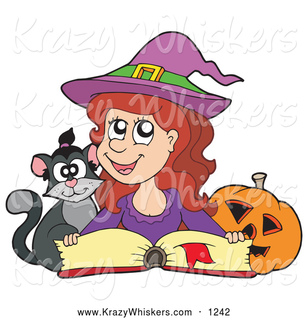 Critter of a cute. Witch clipart reading