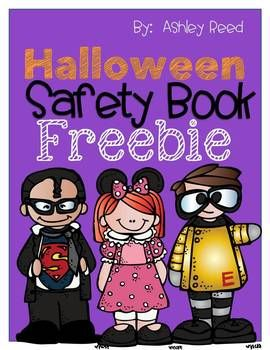 Clipart halloween safety. Book freebie october theme