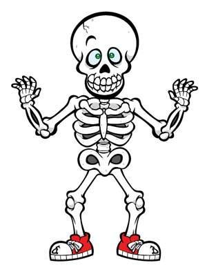 Clipart halloween skeleton. Cute clip art drawing