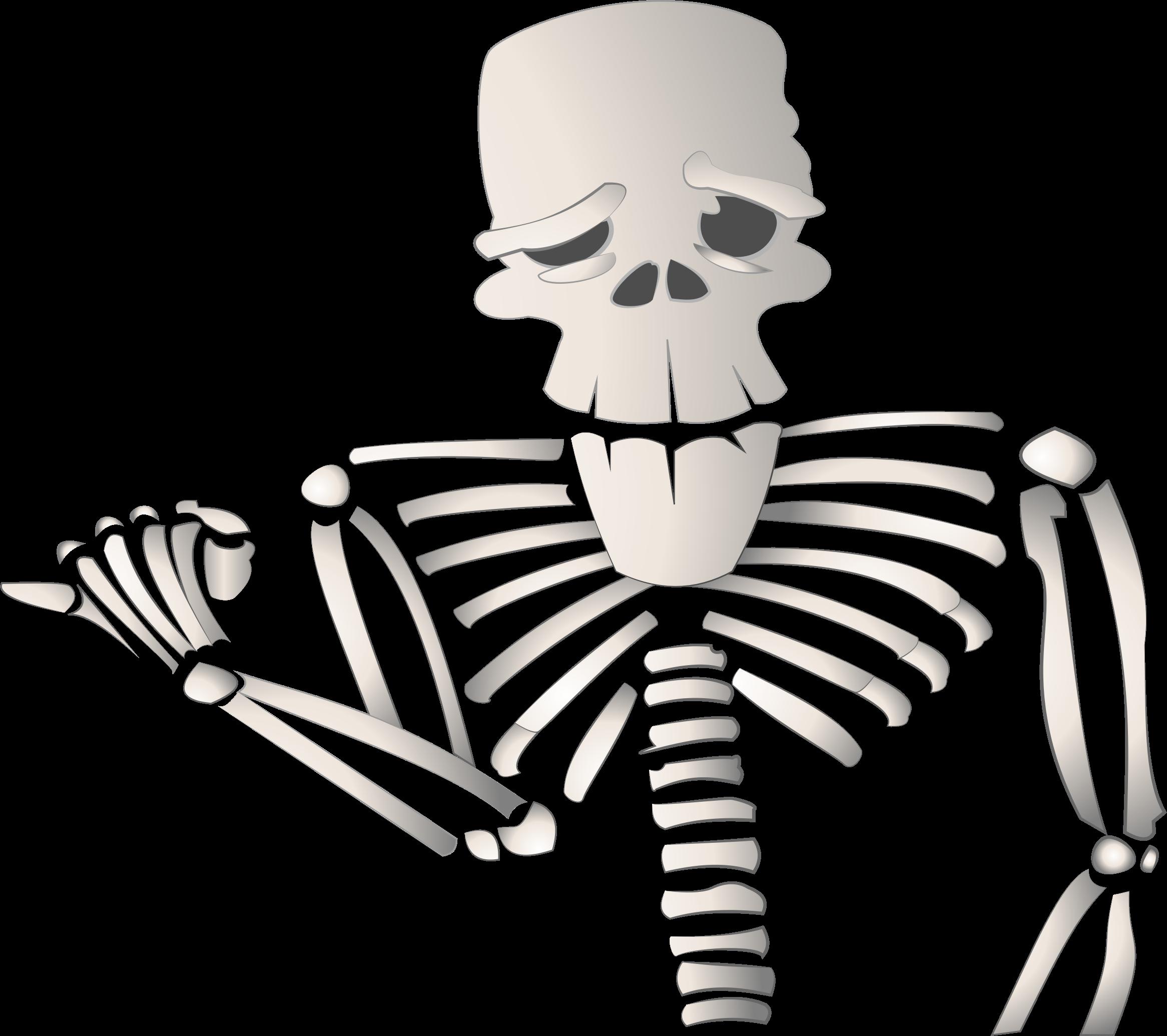 Clipart halloween skeleton. Cartoon big image png