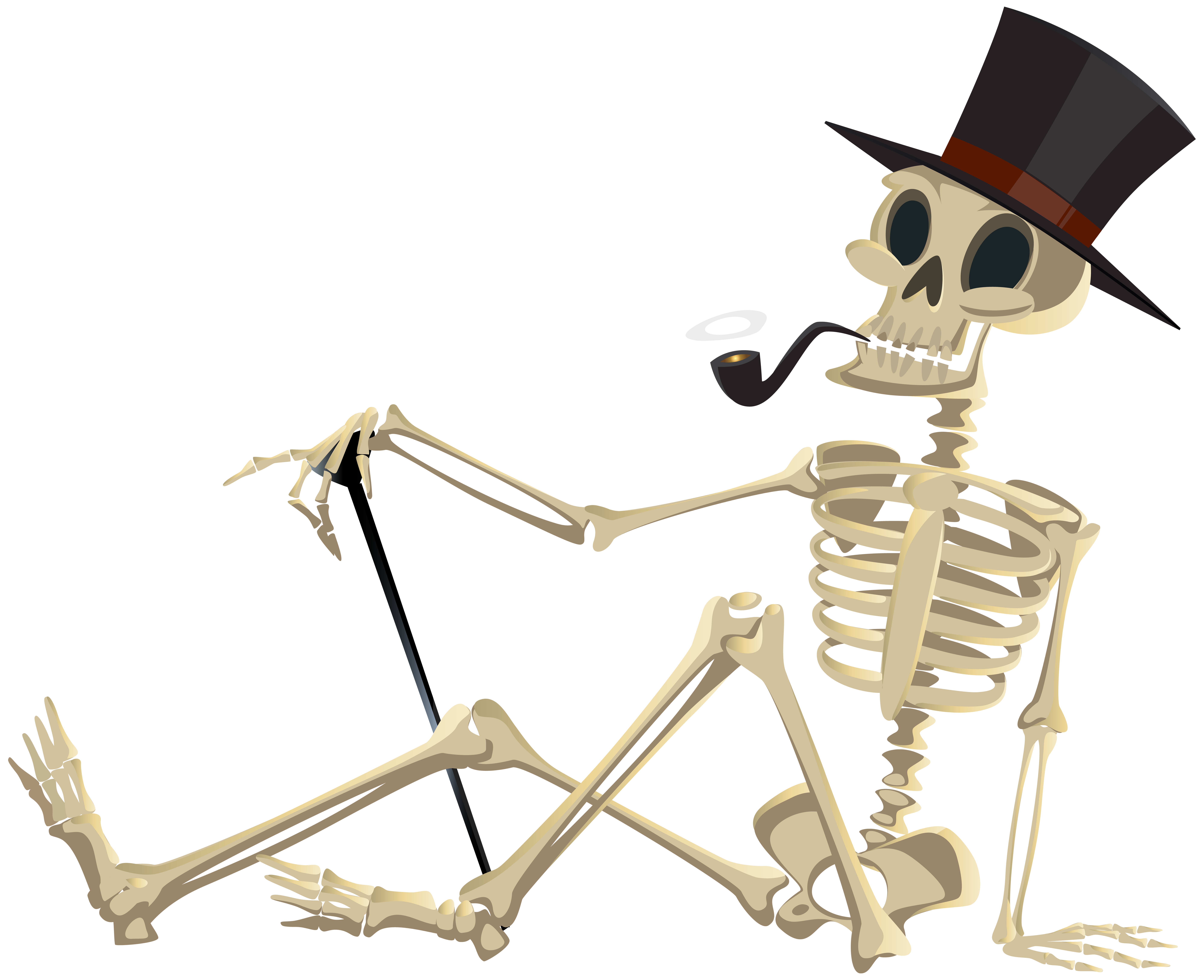 Halloween png clip art. Skeleton clipart bow