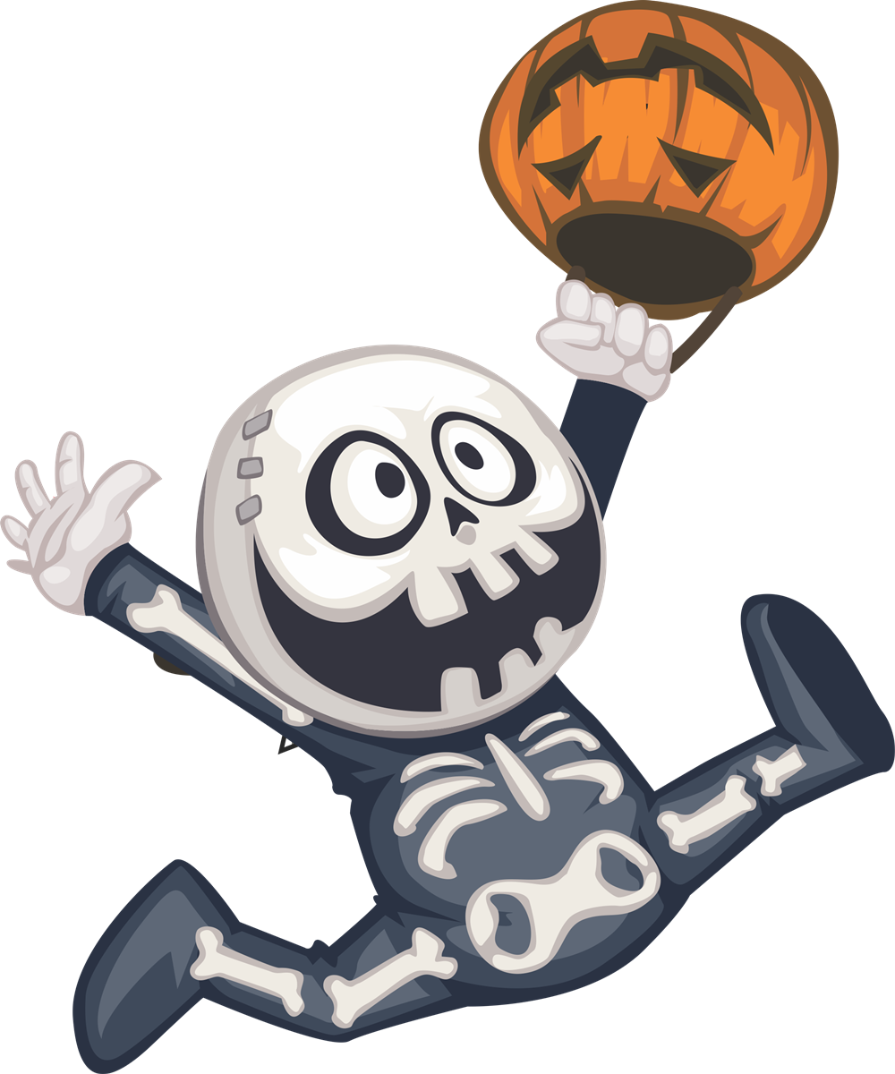 collection of cute. Skeleton clipart sideways