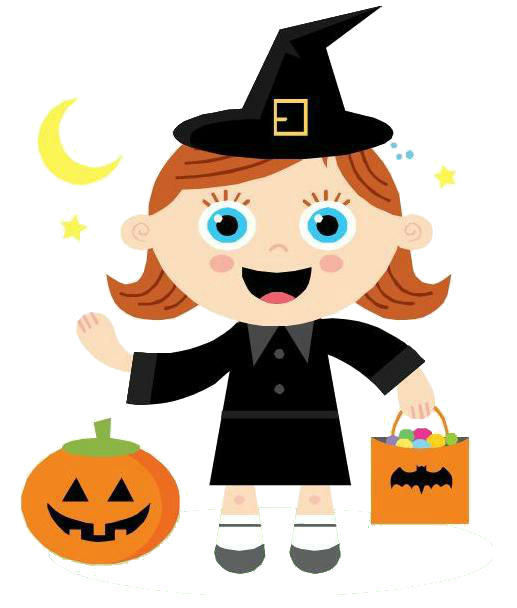 Clipart halloween snack.  collection of girl