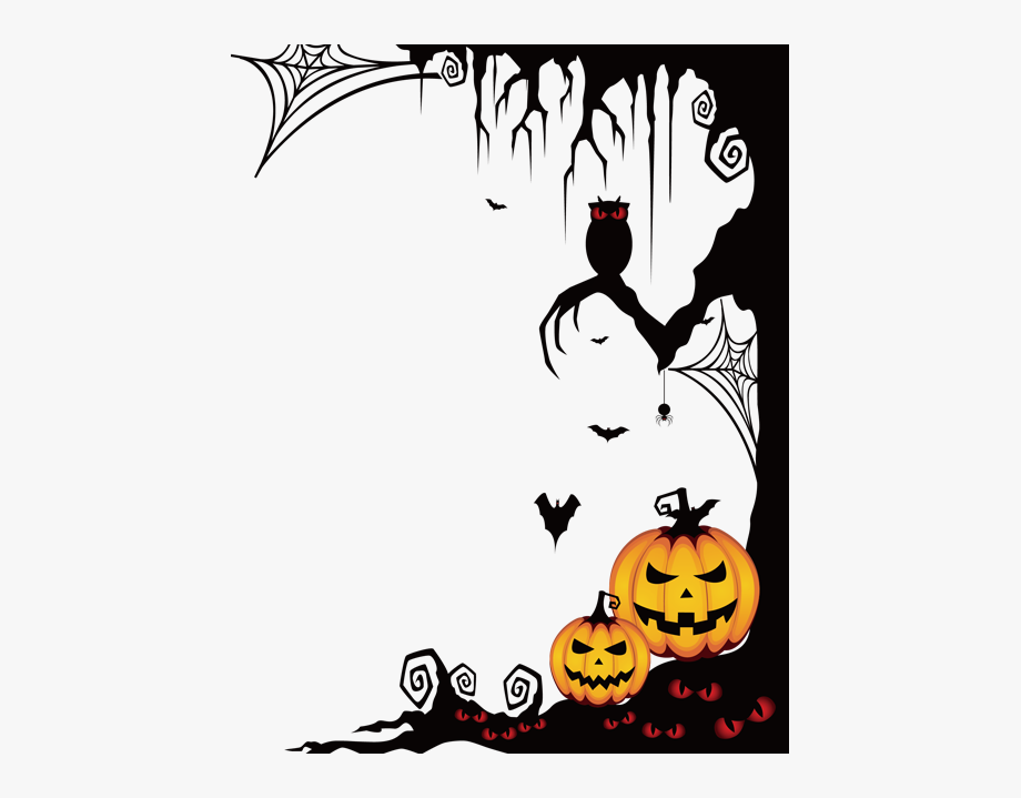 Clipart halloween spooky. Frame border ftestickers