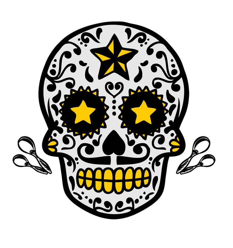 Calavera clip art. Halloween clipart skull