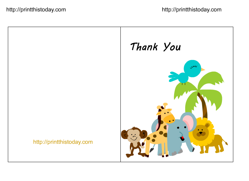 Label clipart baby shower. Free jungle thank you