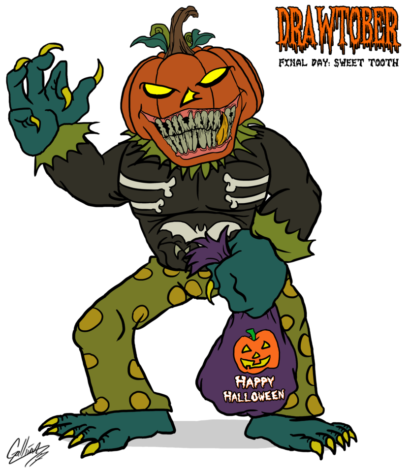 Clipart halloween tooth. Drawtober day sweet by