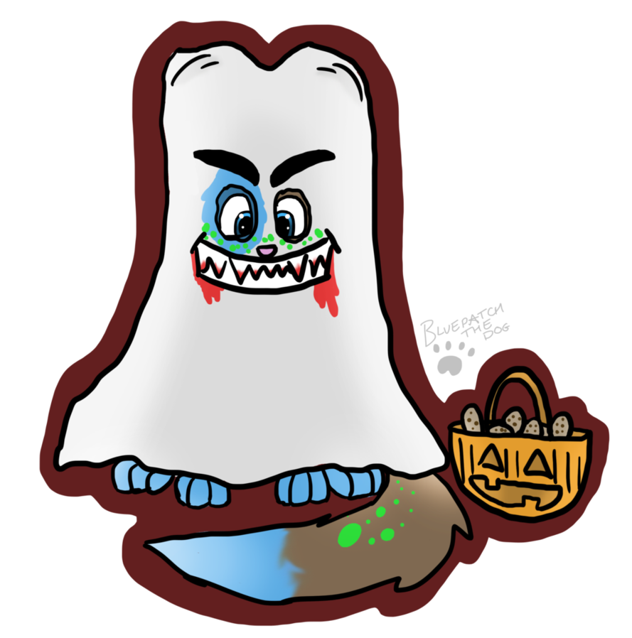 Clipart halloween tooth. Bluepatch at by bluepatchthedog