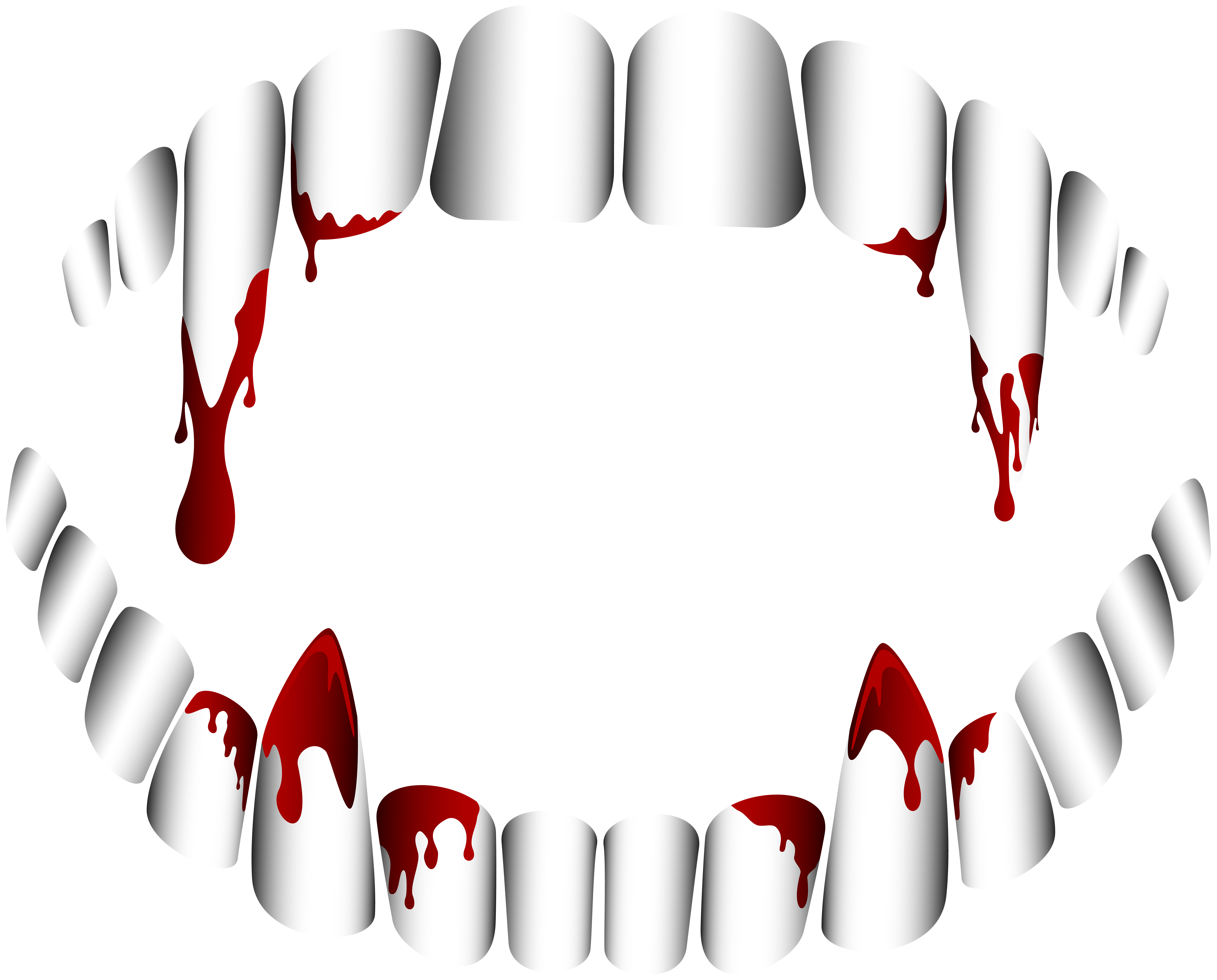 Clipart halloween tooth. Vampire teeth transparent png