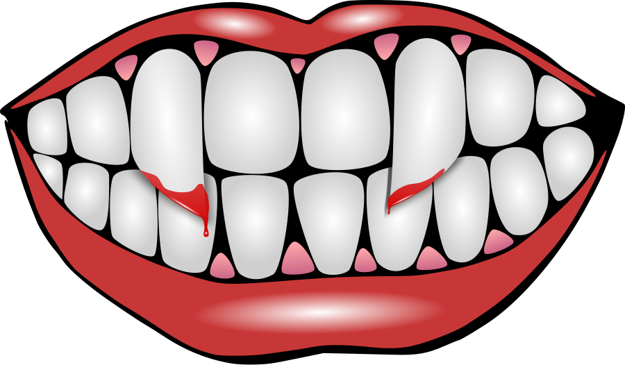 collection of teeth. Clipart halloween tooth