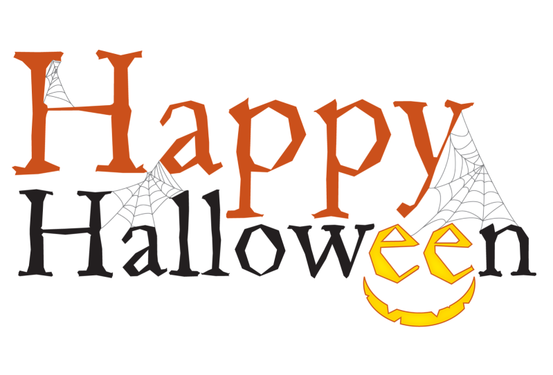 Happy text free stock. Clipart halloween transparent background