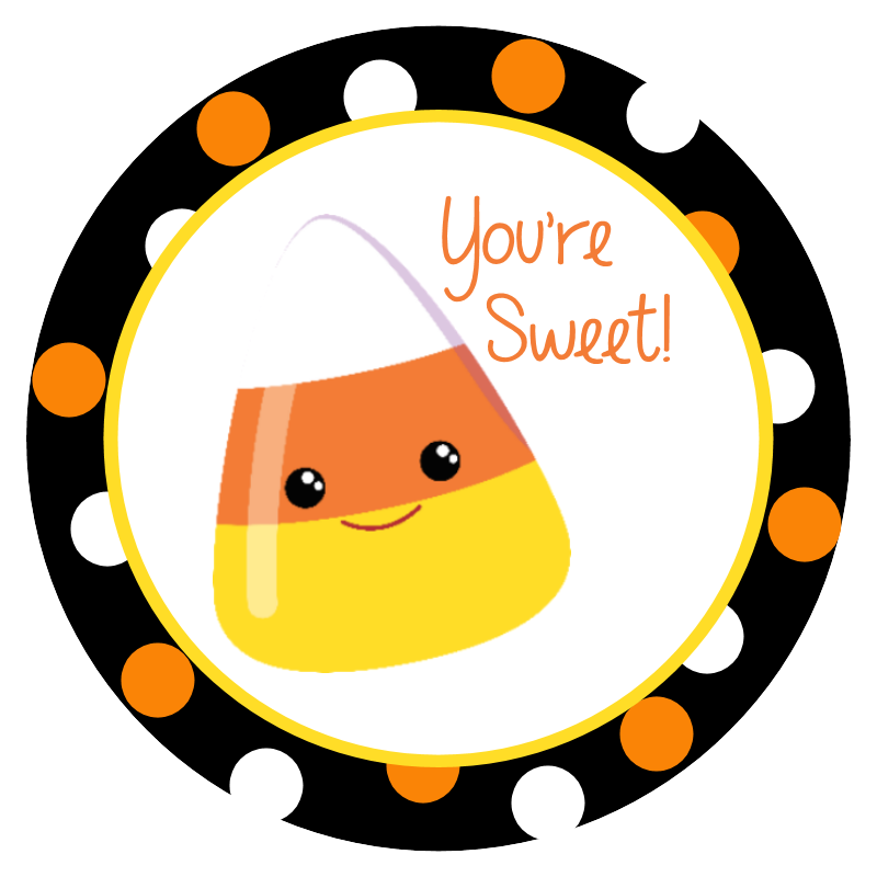 Clipart halloween treat. Free printable stickers its