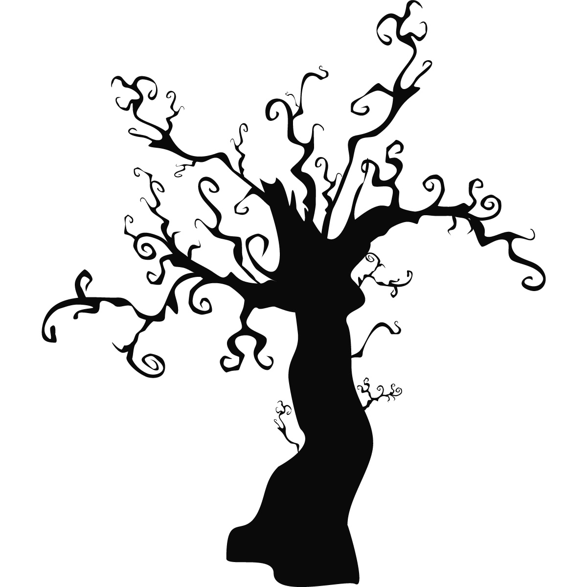 Clip art library . Clipart tree halloween