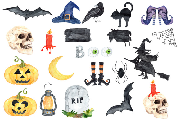 Clipart halloween watercolor. Clip art witches hat