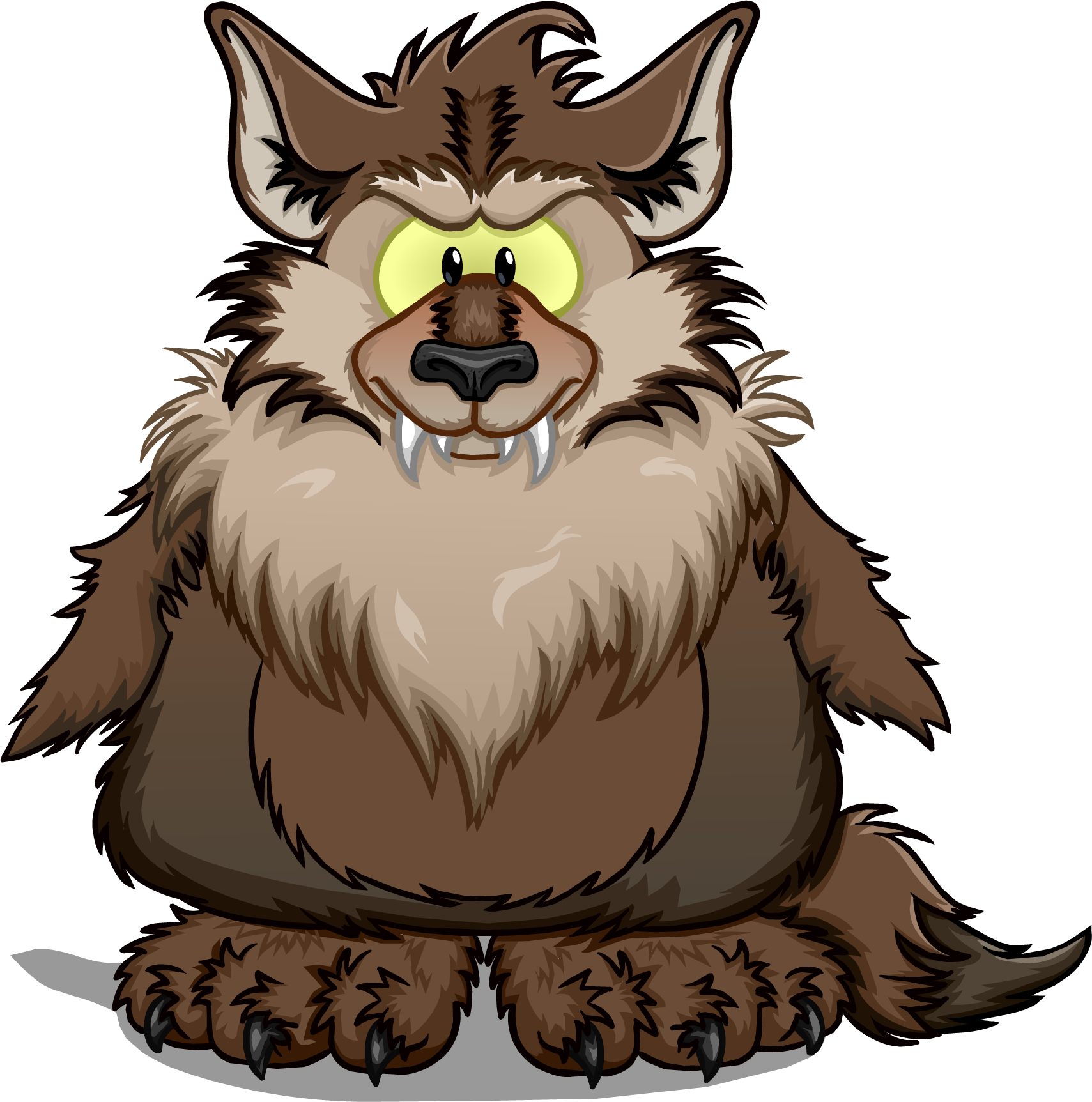 Clipart halloween werewolf. Image png club penguin