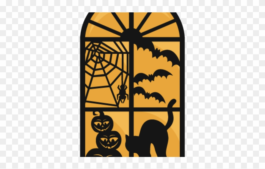 Clipart halloween window. Spooky clip art png