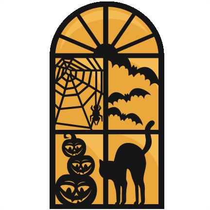 Clipart halloween window. Large clip art
