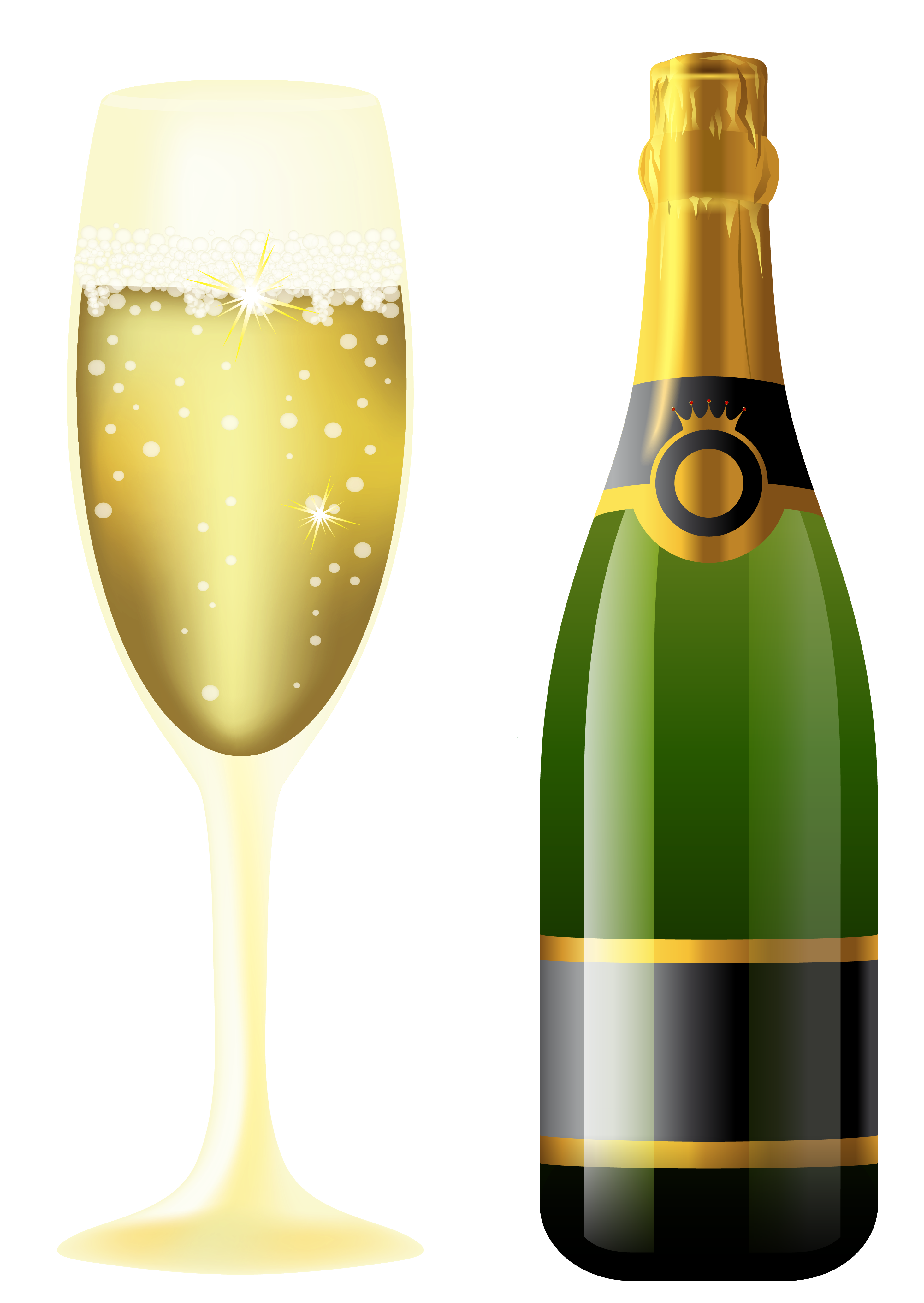 Clipart halloween wine. New year sparkling and