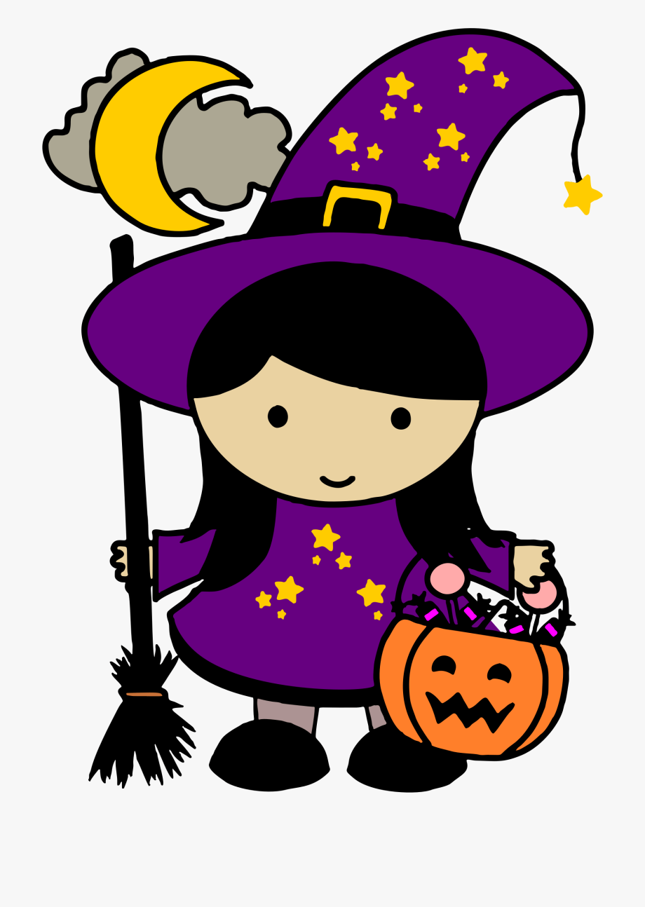 Cute free halloween clip. Witch clipart purple witch