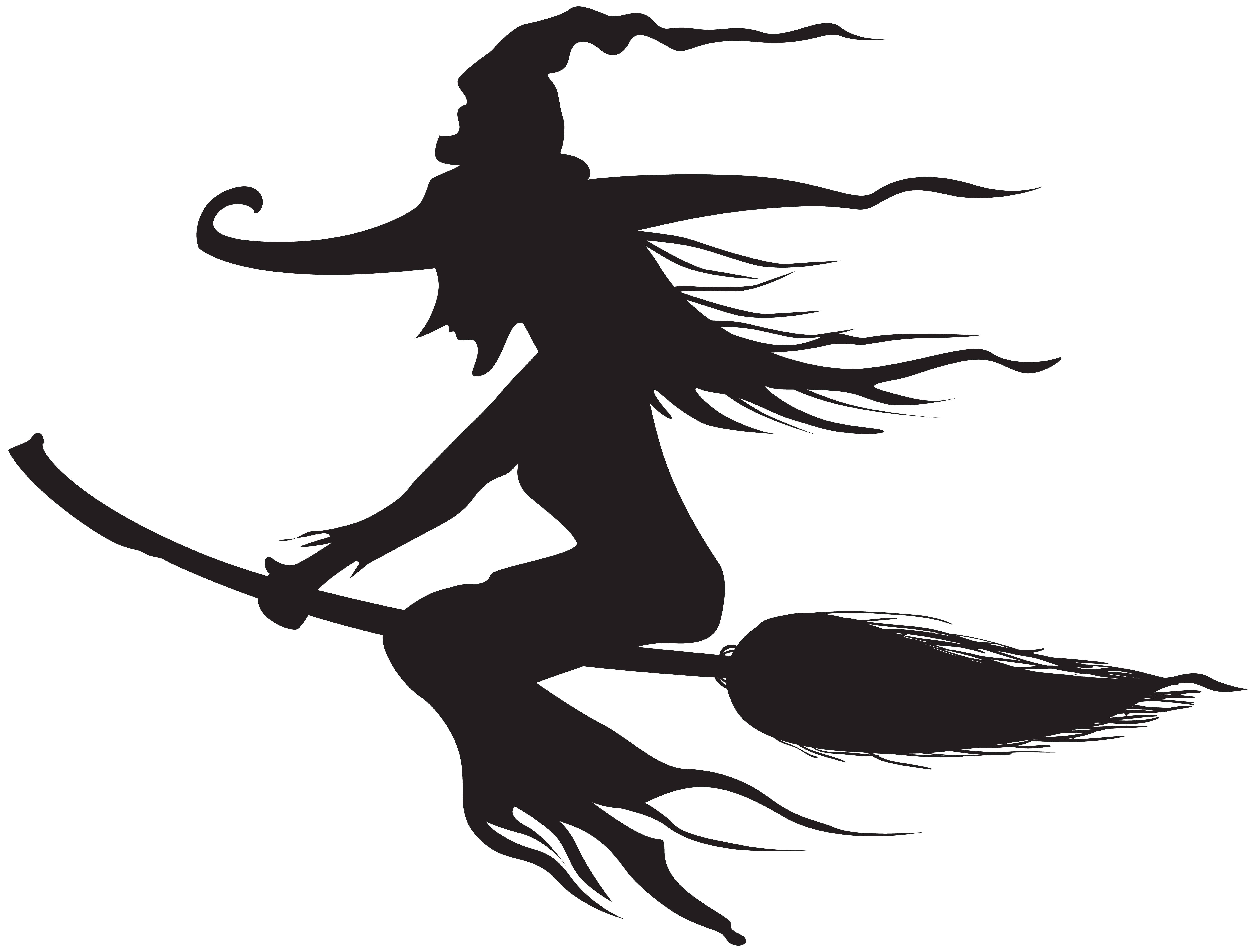 Silhouette png clip art. Clipart halloween witch