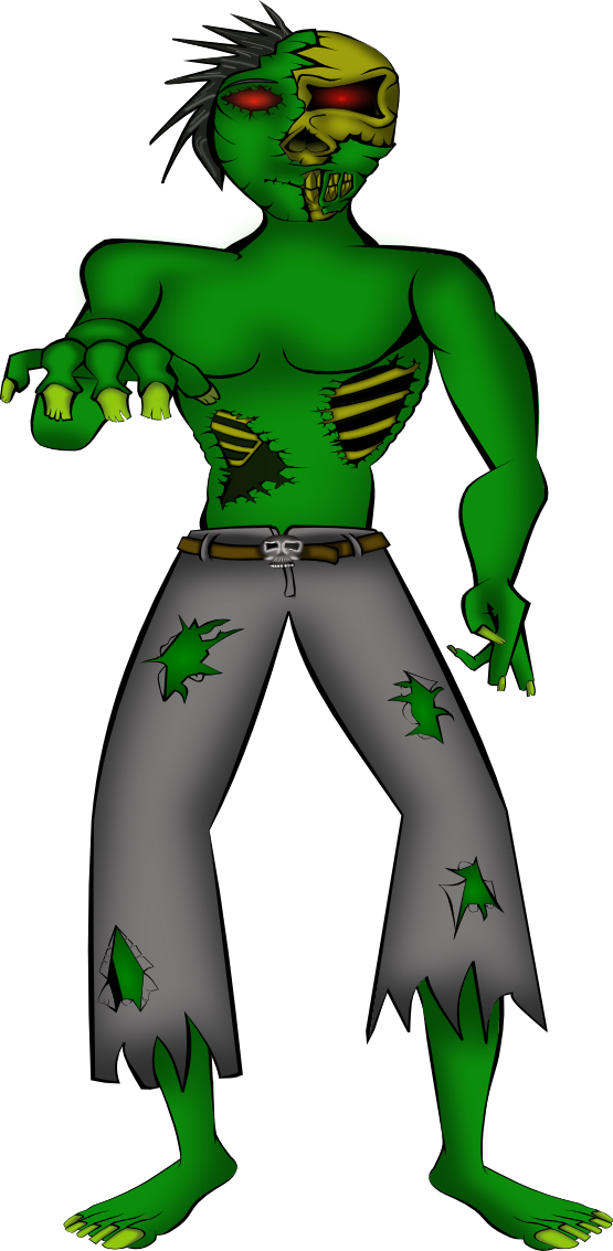 Halloween clipart character. Scary zombie