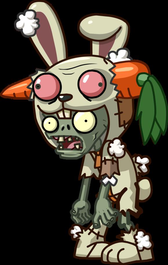 Plants clipart monster. Rabbit mascot zombie vs