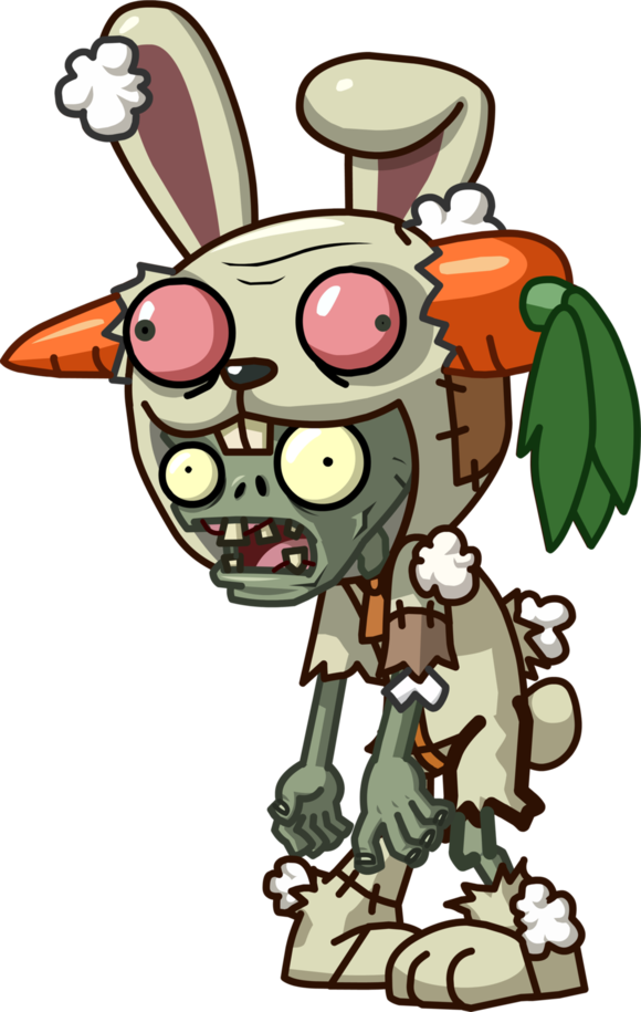 Clipart halloween zombie. Rabbit mascot plants vs