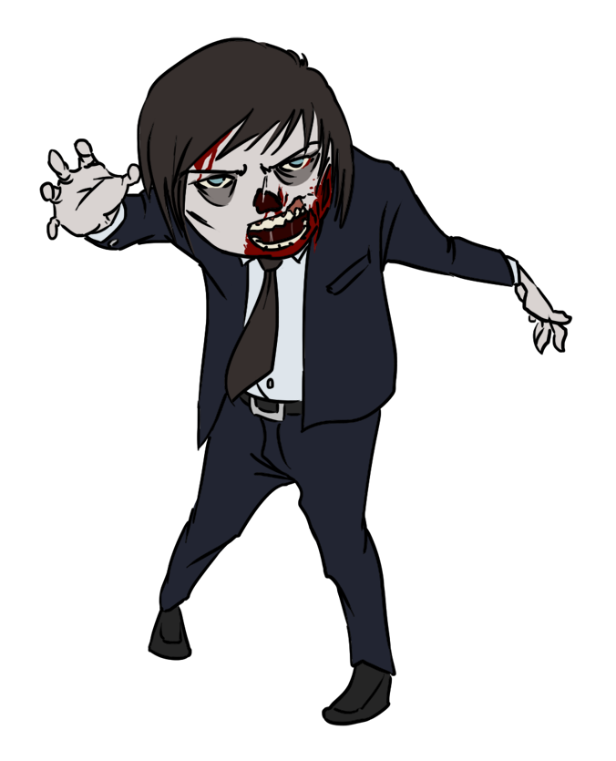 Halloween zombie . Person clipart kid