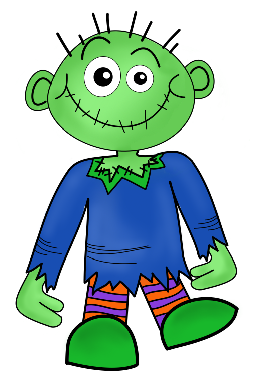 Sunday march creative clips. Clipart halloween zombie