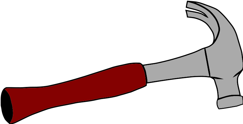 Clipart hammer. Free