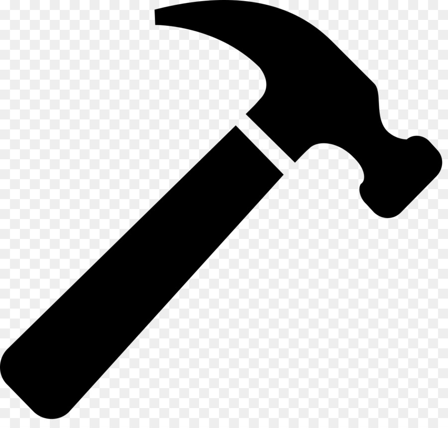 Cartoon line product font. Clipart hammer
