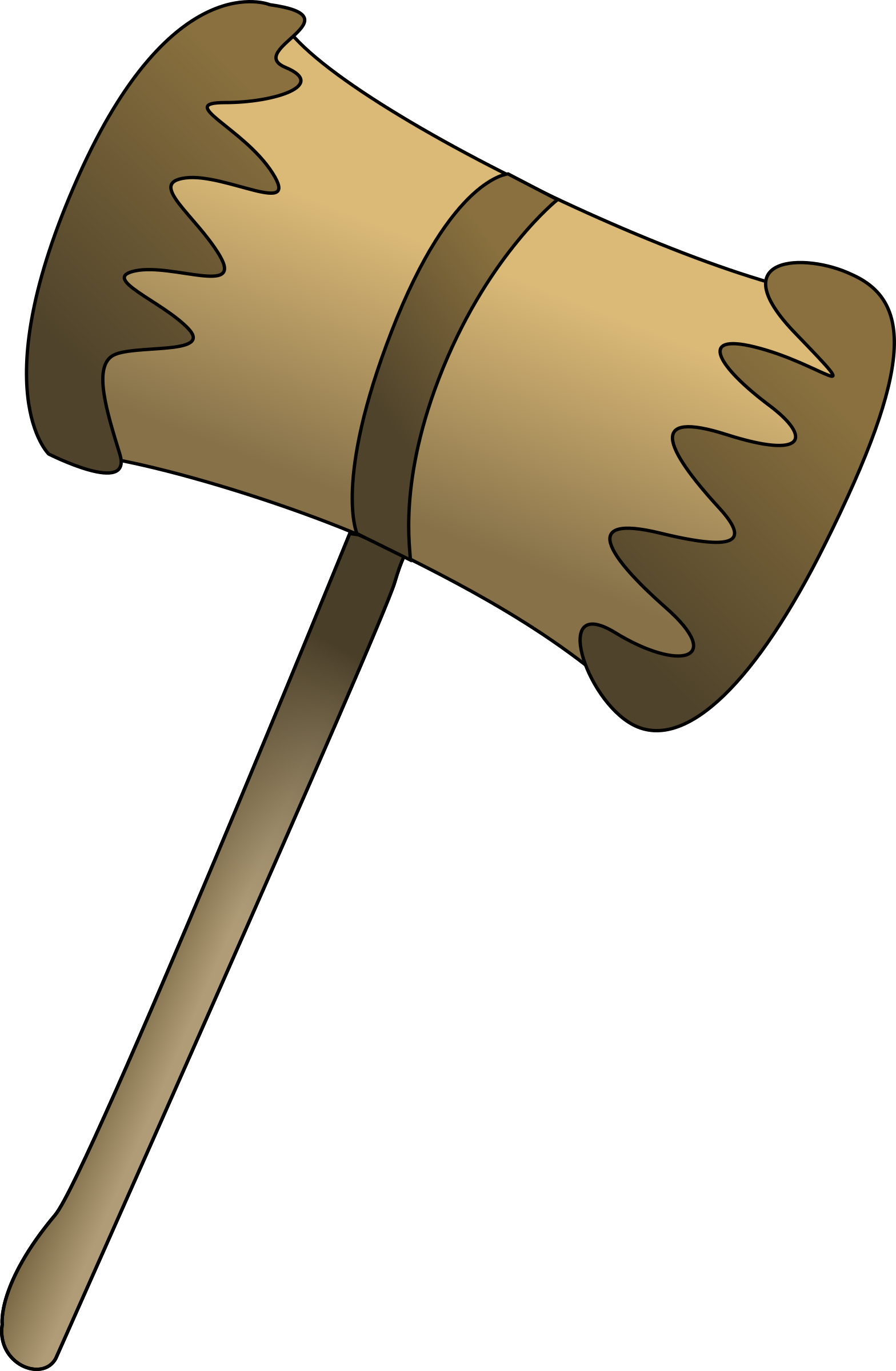 Wooden mallet big image. Clipart hammer animated